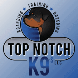 top notch k9 rottweiler logo breeding german bloodline breeder boarding